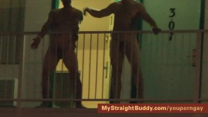 Marines Streaking at Naked Party