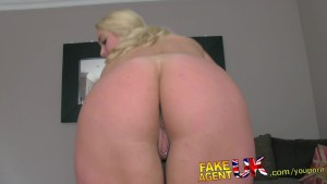 FakeAgentUK Posh British bird with pierced clit gets hardcore casting