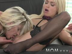- MOM Lesbian MILFs Kiss...
