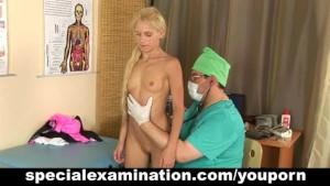 Gyno exam for sexy blonde teen