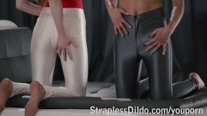Shiny Skinny Slacks Pack a Surprise