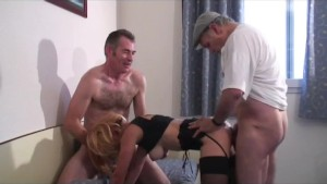 threesome with our voyeur papy