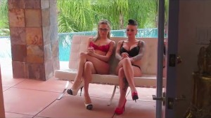 Hot BTS With Christy Mack And Bailey Blue