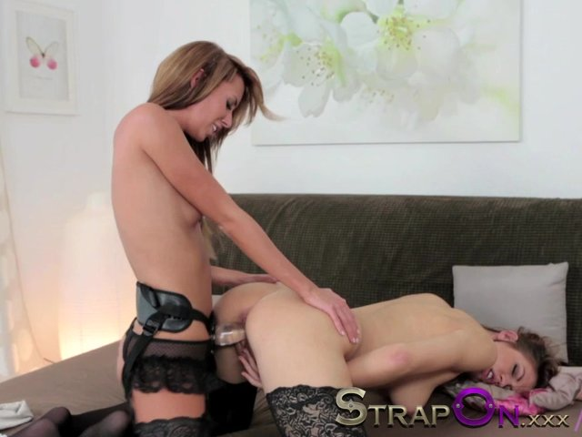 lesbian strapon sex video Mature cunt fucked in lesbian strapon sex video.