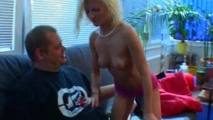 Blonde amateur girlfriend sucks and fucks with facial