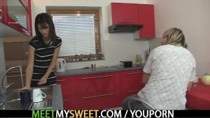 Parents seduce and fuck their son's GF