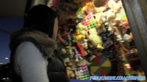 PublicAgent Blowjob on fairground ride before outdoor fuck