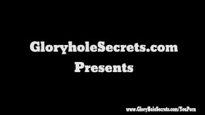 Gloryhole Secrets college girl Lila sucking cock at glory hole and swallowing cum