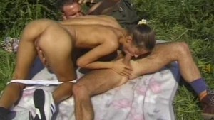 Amateur skinny GF sucks and fucks outdoor with facial