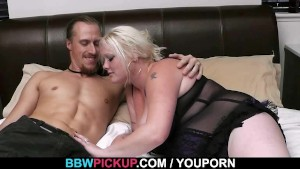 Busty blonde enjoys his hard dick