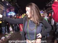 Girls Flashing at Mardi Gras