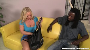 Busty Blonde Craves A Black Cock