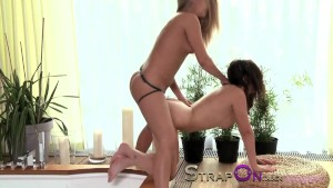 StrapOn Ava Dalush fucked by lesbians with strapon cocks.mov