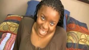 Ebony Eunique V gets gigantic boobies glazed at CrazeExGfs
