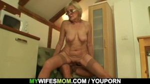 She enjoys sucking and riding her son-in-law's cock