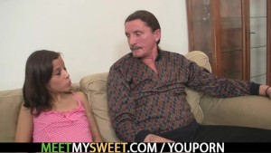 Naughty GF and his family have sex