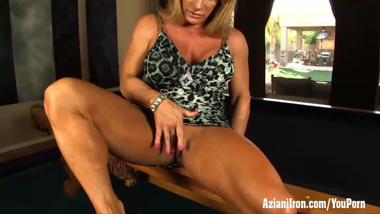 Aziani Iron mature female bodybuilder Kat Konnors nude