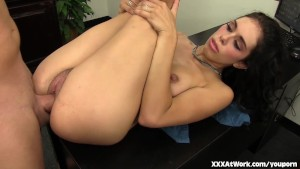 Horny Office Slut Takes a Fuck Break at Work