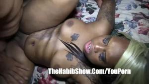 Monster cock BBC fucks tattooo freak she fucked hard