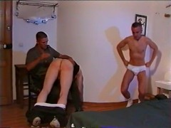 Spanked with Belt and Fucked by soldier