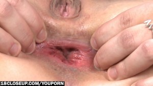 Anal and Vaginal Strong Orgasm with Transparent Dildo