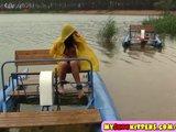Horny teenie in a raincoat