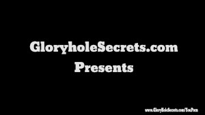 Gloryhole Secrets Young Kristina loves swallowing loads of cum POV