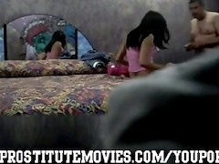 Hidden camera with Peruvian hot escort