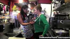 Unexpected lesbian MILF shake