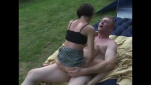 Camping couple have some fucking fun - Telsev