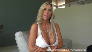 Busty Blonde Wifey Porn Tryout