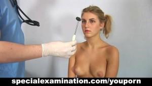 Teen girl gets gyno examination