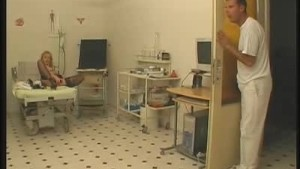Stockinged Blonde Dildos Inside The Clinic