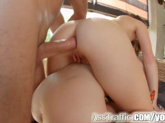 Ass Traffic French babes in anal gaping extravaganza