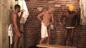 Couple Of Hunks Fuck One Little Twink - Factory Video