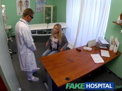 FakeHospital Dizzy young blonde takes a creampie and starts to fall for the doctor