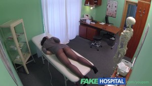 FakeHospital Hidden cameras catch female patient using massage tool for an orgasm
