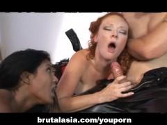 Brutal Asian Lyla Lei is gaping scene