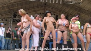Real Woman Going Wild at Midwest Biker Rally