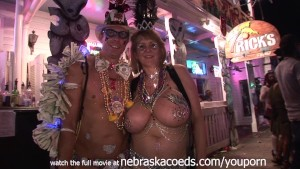 Mardi Gras Style Festival but in Key West Florida