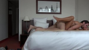 sexy babe fucked hard by bf's huge cock on sex tape