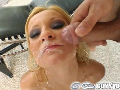 Cum For Cover deepthroat practice for slutty chick