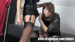 Strapon Jane Fucking Crossdresser Hard With Strapon Cock
