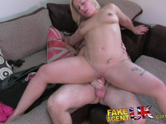 FakeAgentUK Wee Scottish minx shows impressive deep throat skills