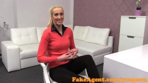 FakeAgent Skinny blonde takes Creampie in Casting