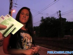 PublicAgent Mindblowing blowjob and intercourse under a public bridge
