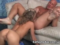 Hot blonde Desire Moore licks strange...