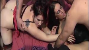 Gangbang for big titted UK pornstar Emma Butt