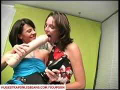 Niki pounding Alizia with a strapon