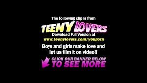 Teeny Lovers - Muscle guy fucks teen in glasses